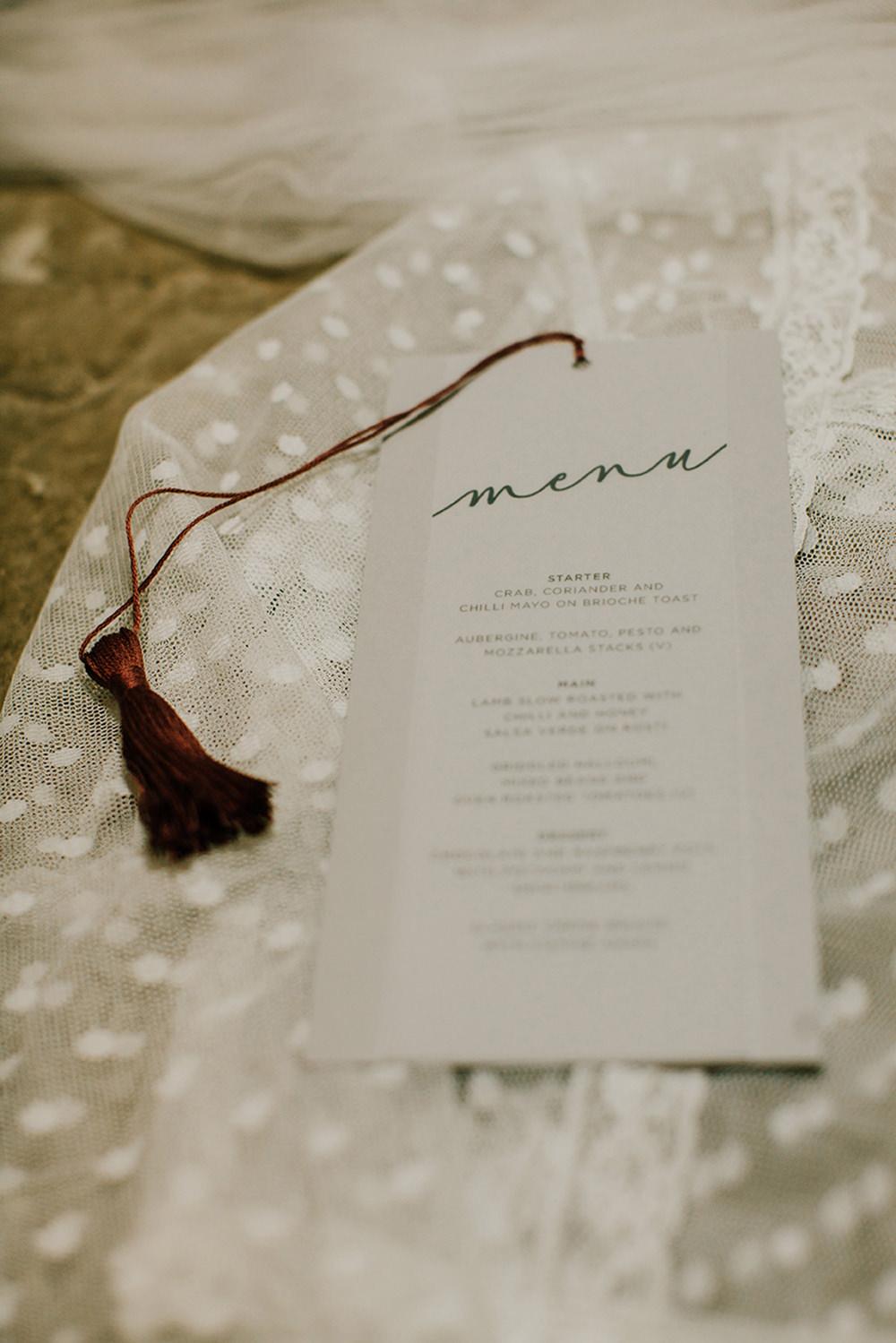 Stationery Invites Invitations Glassine Calligraphy Tassels Bohemian Music Folk Wedding Ideas Gail Secker Photography