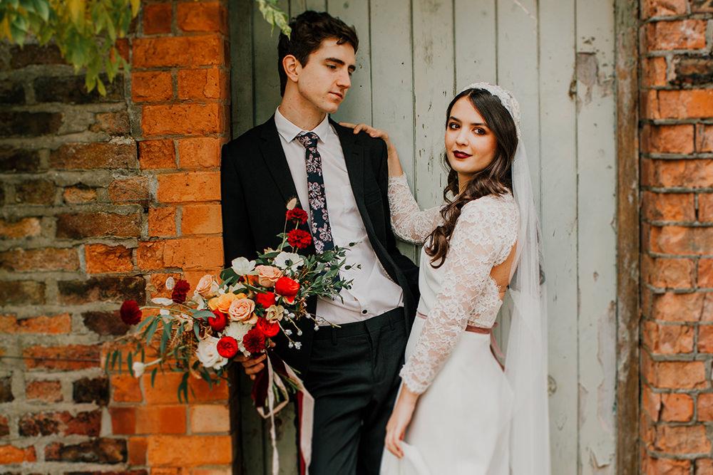 Groom Suit Floral Tie Bohemian Music Folk Wedding Ideas Gail Secker Photography