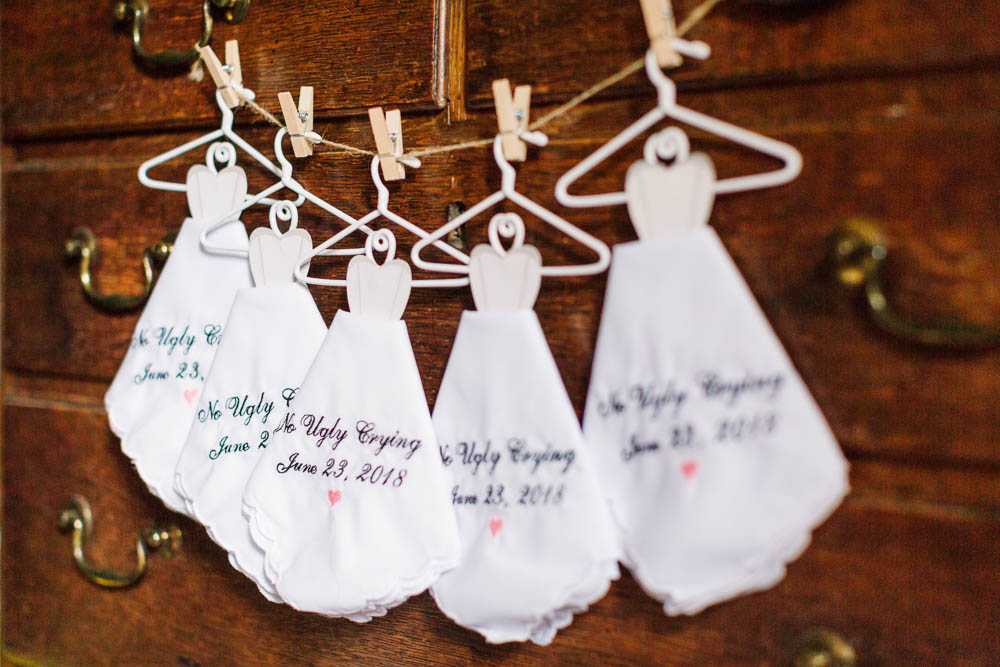 Handkerchief Bridesmaids No Ugly Crying Brewerstreet Farmhouse Wedding Danielle Smith Photography