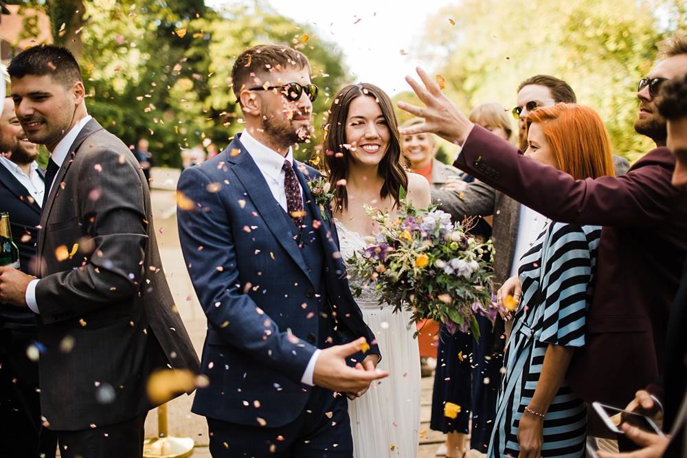 Confetti Throw Cherwell Boathouse Wedding Claudia Rose Carter Photography
