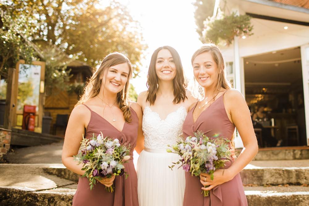 Dusky Pink Bridesmaid Dress Dresses Cherwell Boathouse Wedding Claudia Rose Carter Photography