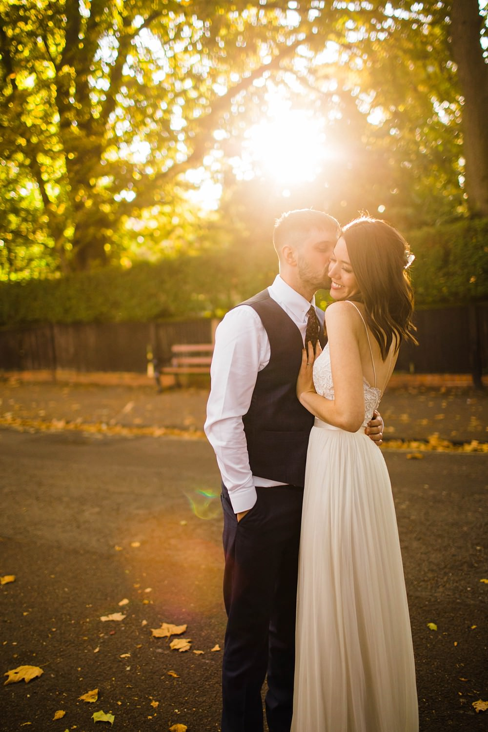 Dress Gown Bride Bridal Two Piece Top Skirt Catherine Deane Cherwell Boathouse Wedding Claudia Rose Carter Photography