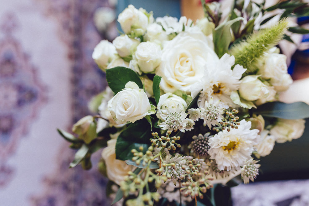 Bouquet Flowers Bride Bridal White Greenery Rose Clapton Country Club Wedding Curious Rose Photography
