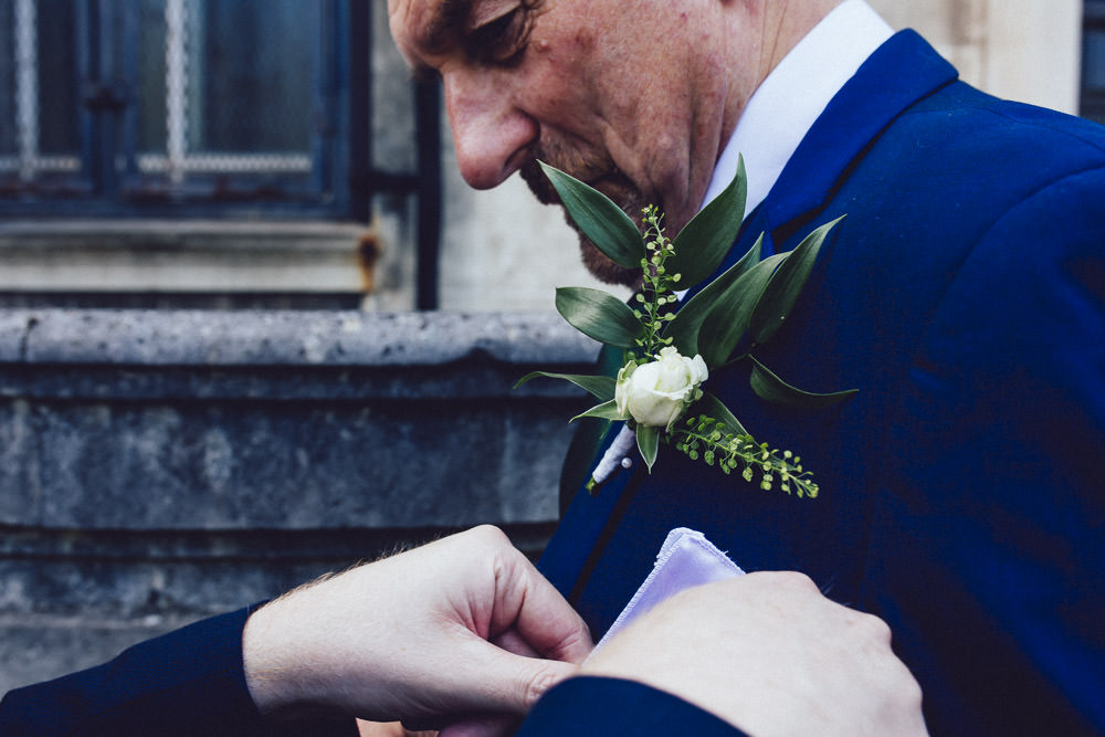 Groom Groomsmen Buttonhole Leaves Greenery Leaf Clapton Country Club Wedding Curious Rose Photography