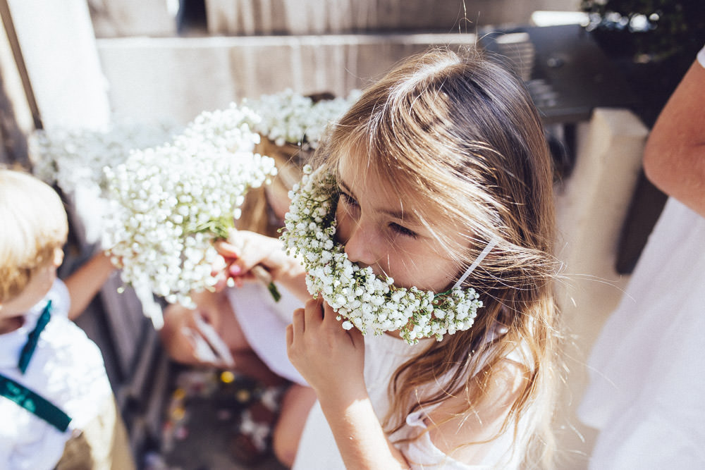 Flower Girls Flower Crowns Gypsophila Clapton Country Club Wedding Curious Rose Photography