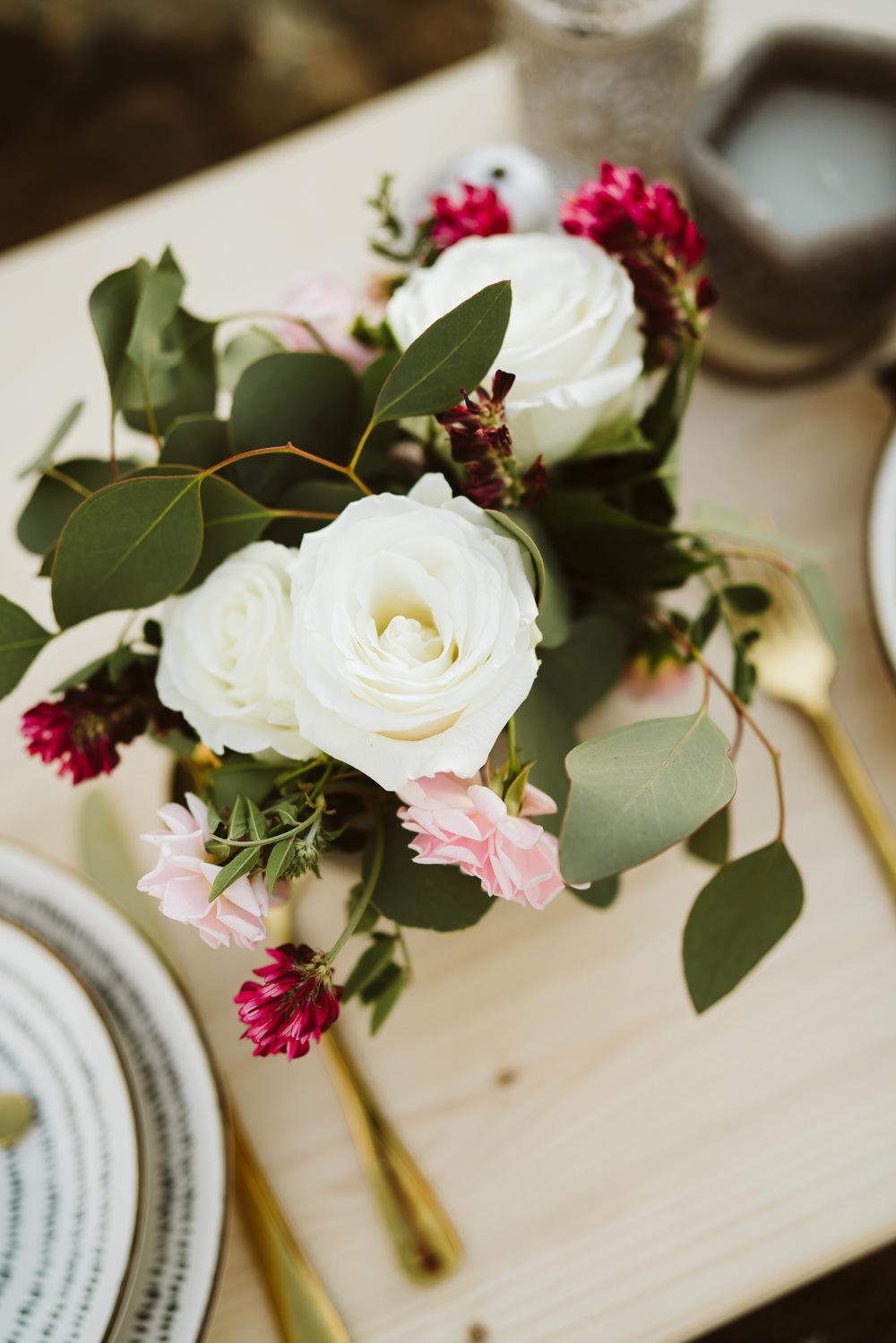Table Flowers Foliage Greenery Rose Berry Clifftop Portugal Wedding Ideas John Barwood Photography