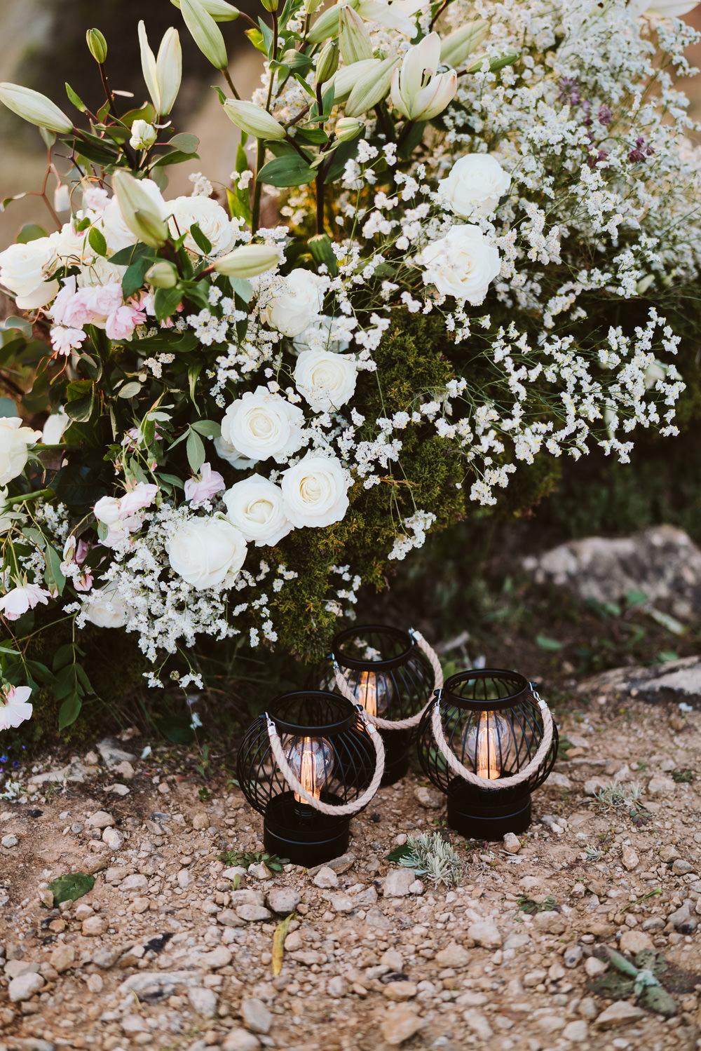 Flowers Greenery Foliage Clifftop Portugal Wedding Ideas John Barwood Photography