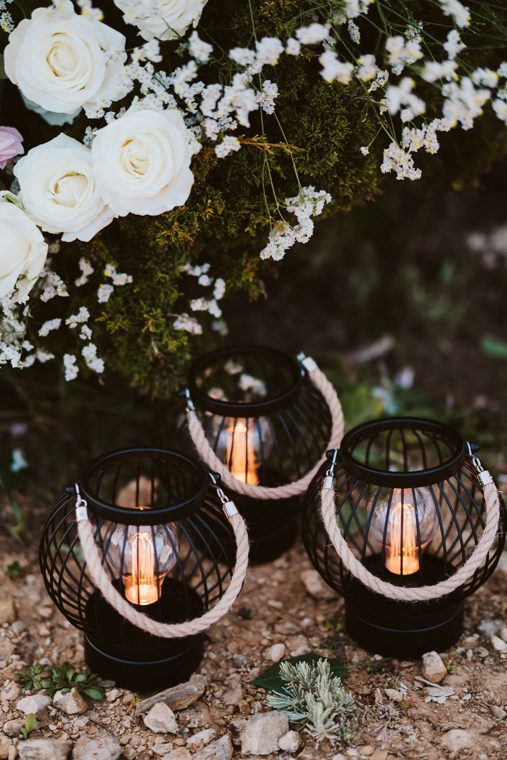 Lantern Candles Clifftop Portugal Wedding Ideas John Barwood Photography