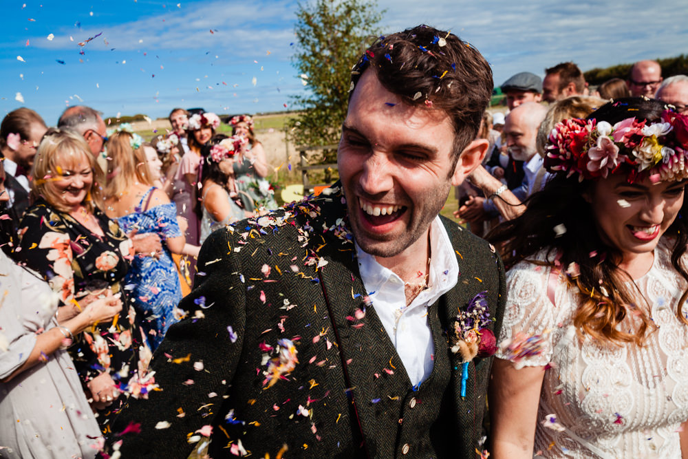 Confetti Colourful Festival Party Wedding Emma and Rich Photography