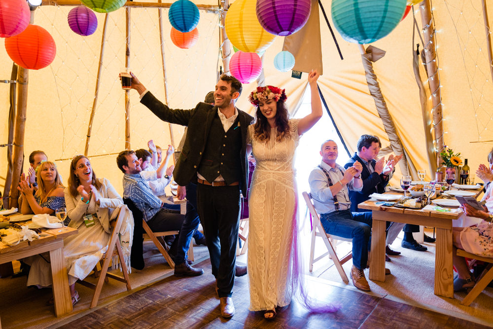 Colourful Festival Party Wedding Emma and Rich Photography