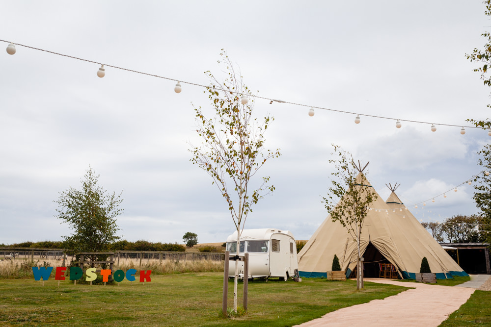 Tipis Festoon Lights Lighting Colourful Festival Party Wedding Emma and Rich Photography