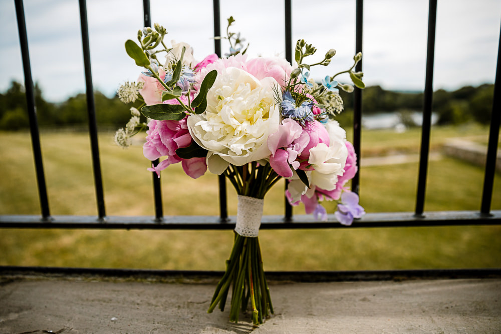 Bouquet Flowers Bride Bridal Pink Cream Peony Peonies Coniston Hotel Wedding Hayley Baxter Photography