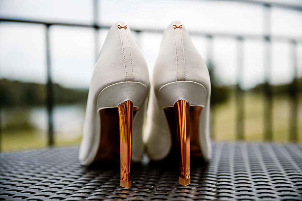 Shoes Heels Bride Bridal Copper Rose Gold Coniston Hotel Wedding Hayley Baxter Photography