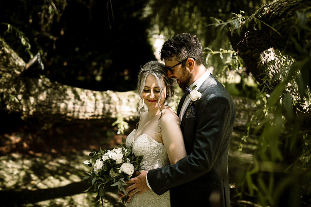 Bride Bridal Dress Gown Sweetheart Neckline Lace Braided Up Do Plait Bow Tie Groom White Rose Greenery Bouquet Crab and Lobster Wedding Hayley Baxter Photography