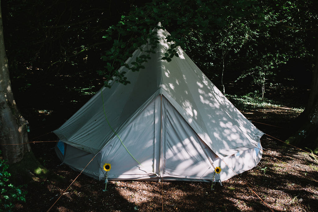 Glamping Bell Tent Eco Friendly Wedding The Stag and the Doe