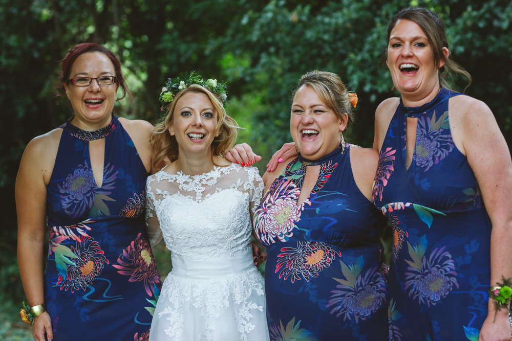 Bridesmaids Dress Dress Blue Print Enchanted Garden Events Wedding Sharon Cooper Photography