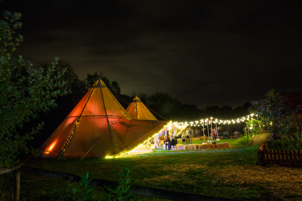 Tipi Tent Festoon Lights Fairy Lighting Enchanted Garden Events Wedding Sharon Cooper Photography