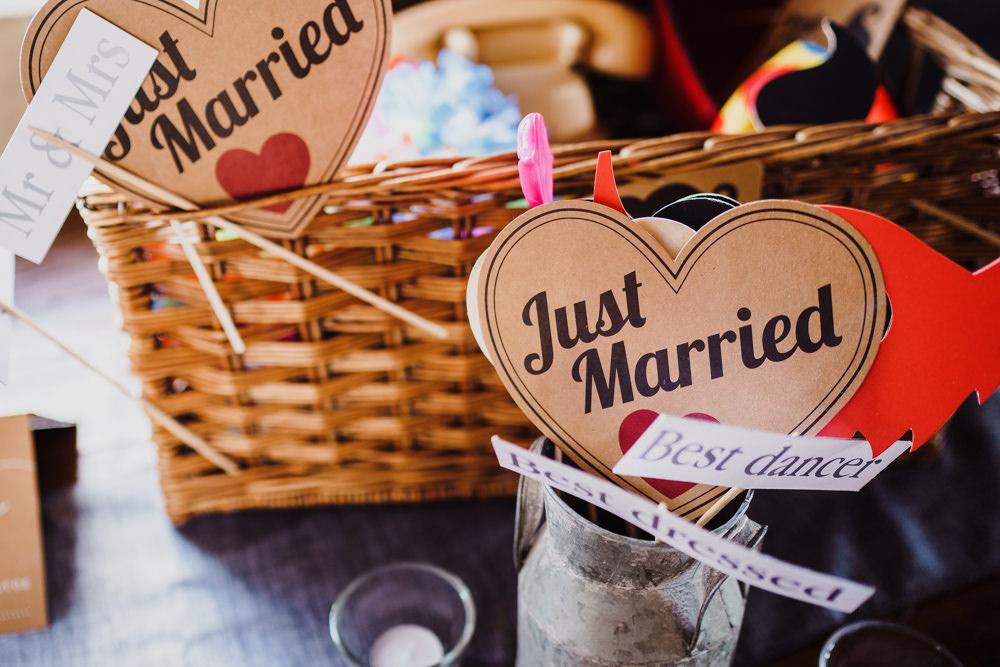 Photo Booth Props Godwick Hall Wedding Rob Dodsworth Photography