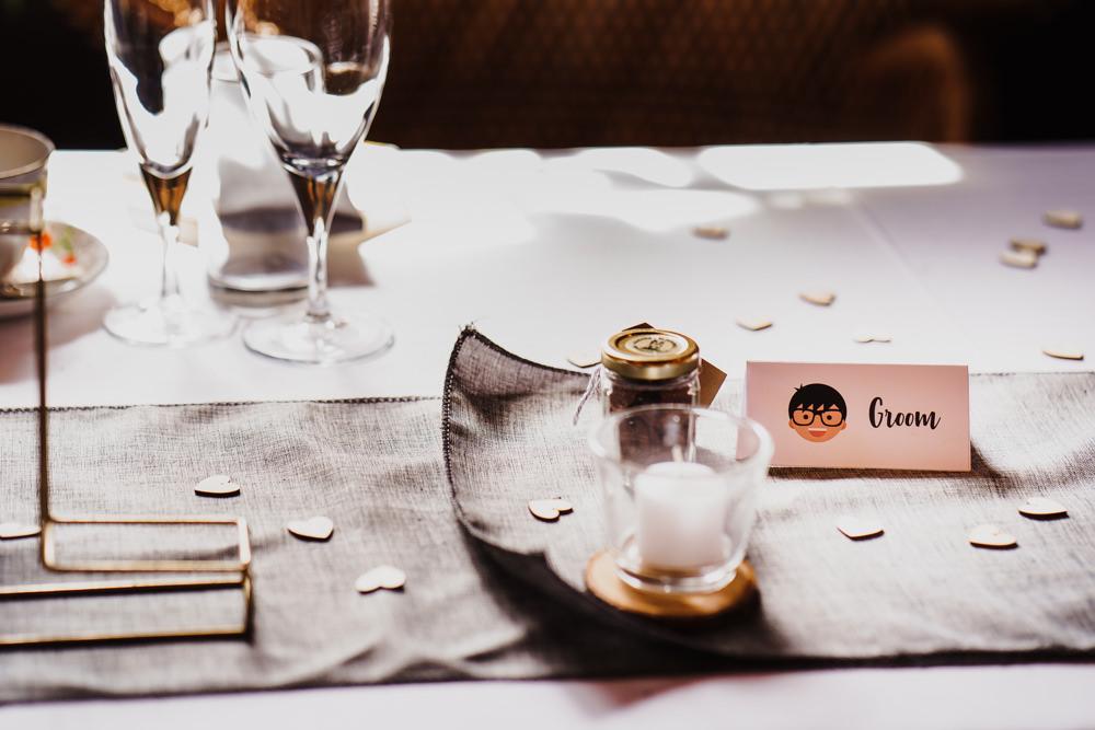 Heart Confetti Godwick Hall Wedding Rob Dodsworth Photography