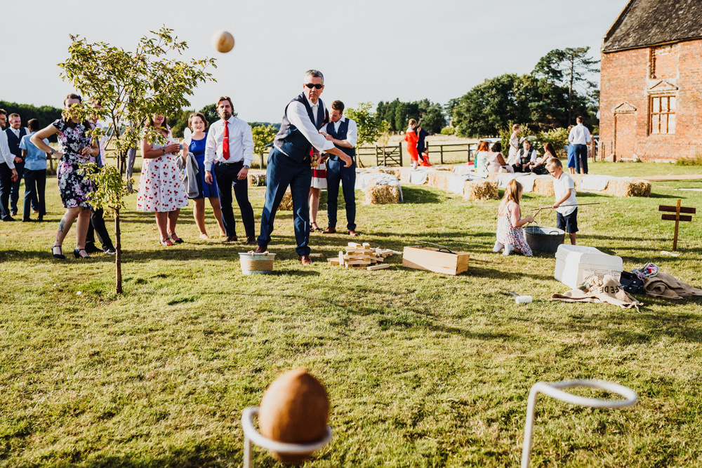 Coconut Shy Fete Game Godwick Hall Wedding Rob Dodsworth Photography