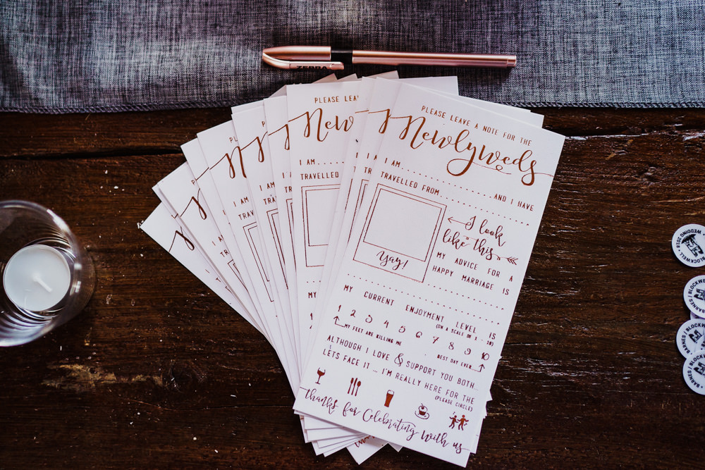 Newleyweds Card Advice Quiz Form Godwick Hall Wedding Rob Dodsworth Photography