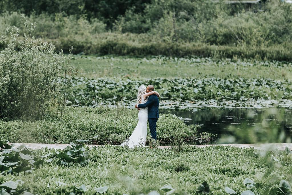 First Look Greenhouse Garden Washington Wedding Beginning and End Photography