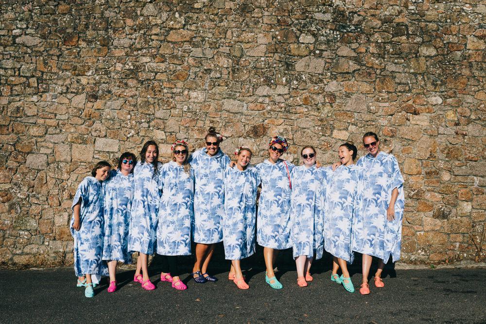 Bridesmaids Towel Robe Jersey Beach Wedding Peakography