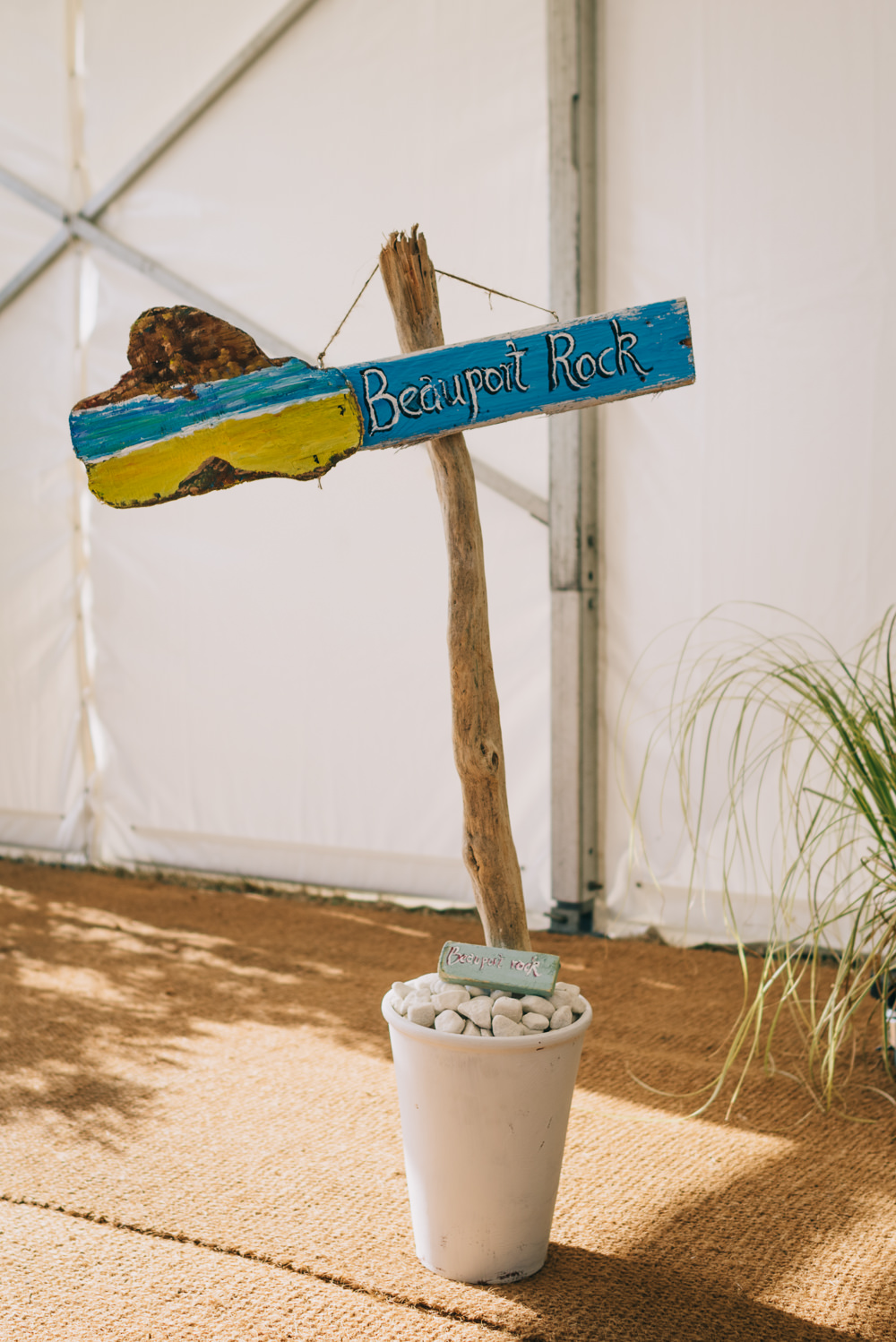 Sign Signpost Painted Jersey Beach Wedding Peakography