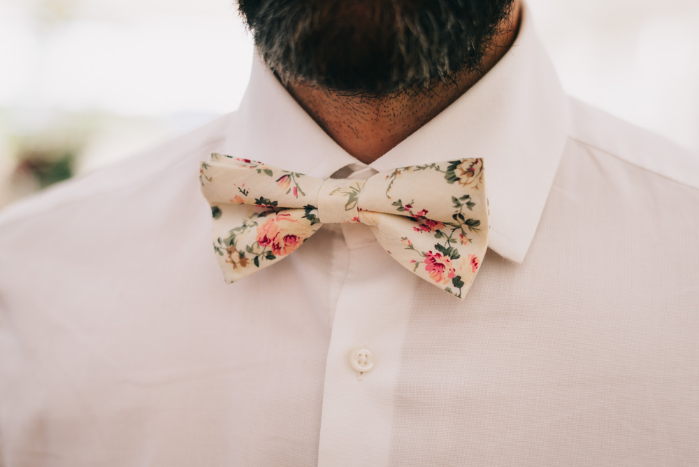 Floral Bow Tie Jersey Beach Wedding Peakography