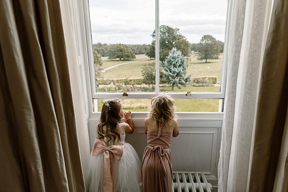Flower Girl Pink Sash Multiway Dress Lartington Hall Wedding Hayley Baxter Photography
