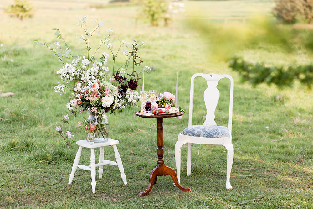 Table Flowers Peach Coral Cream Roses Greenery Foliage Light Airy Summer Wedding Ideas Charlotte Palazzo Photography