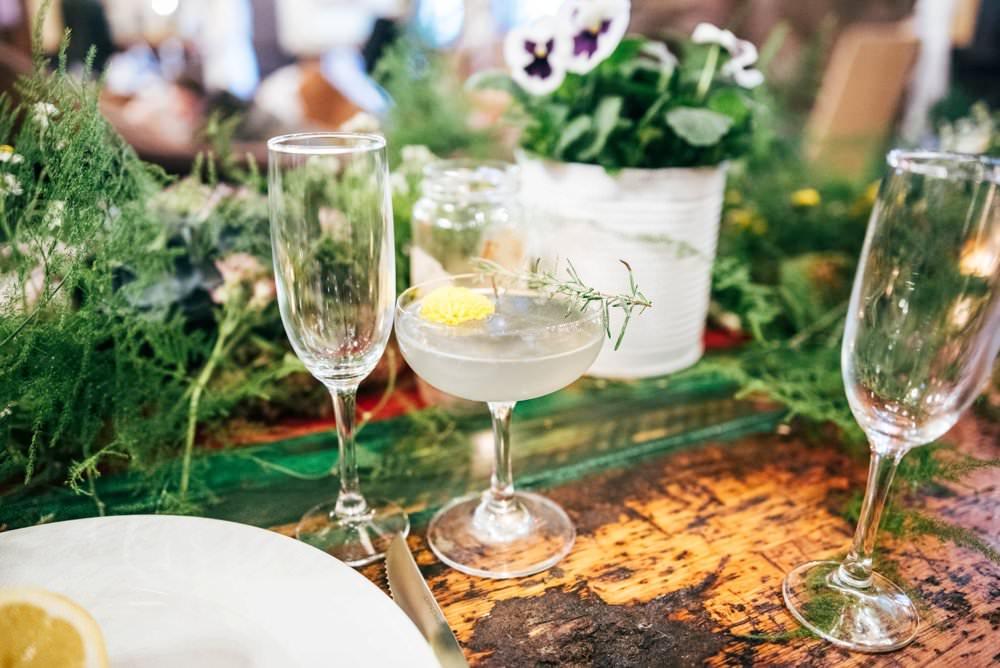 Cocktails Modern Pub Wedding Ideas Three Flowers Photography