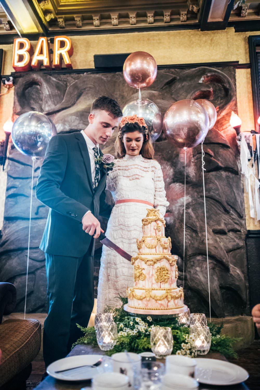 Modern Pub Wedding Ideas Three Flowers Photography