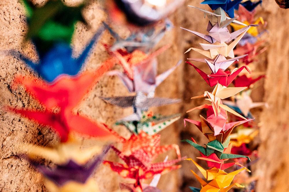 Origami Paper Cranes Decor Park House Barn Wedding Fairclough Studios