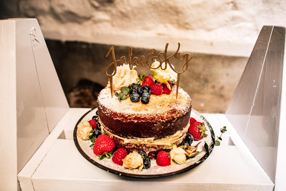 Naked Cake Topper Flowers Park House Barn Wedding Fairclough Studios