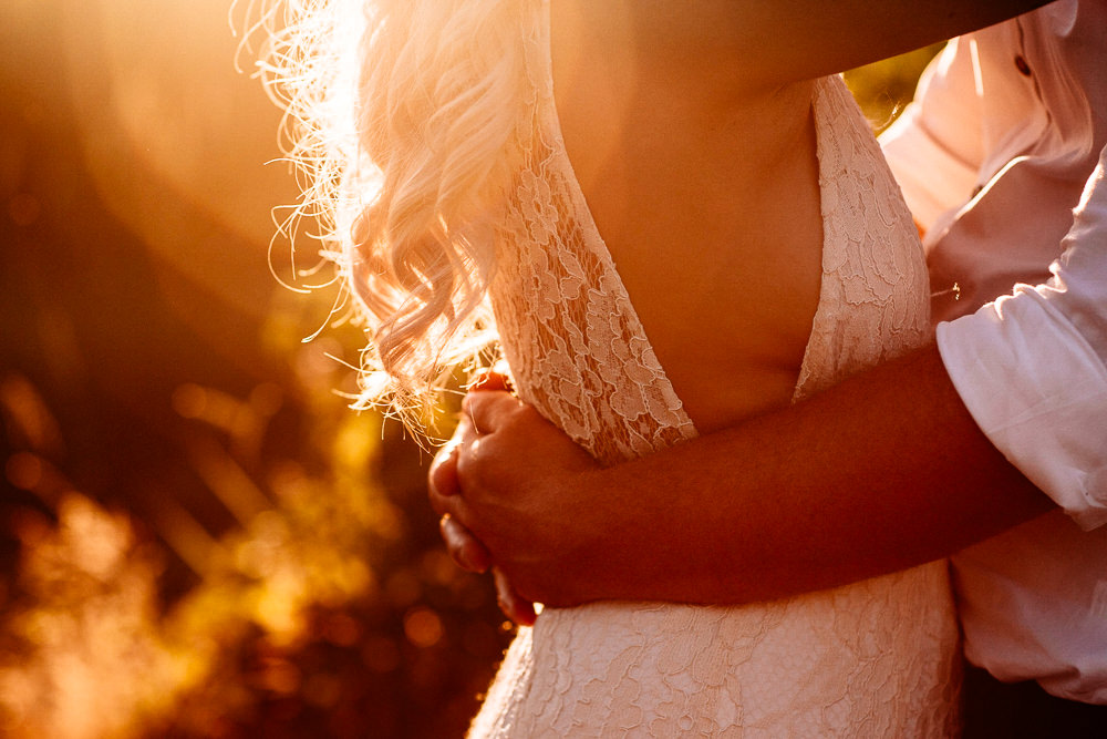 Dress Gown Bride Bridal Lace Straps Low Neckline Plunge Park House Barn Wedding Fairclough Studios