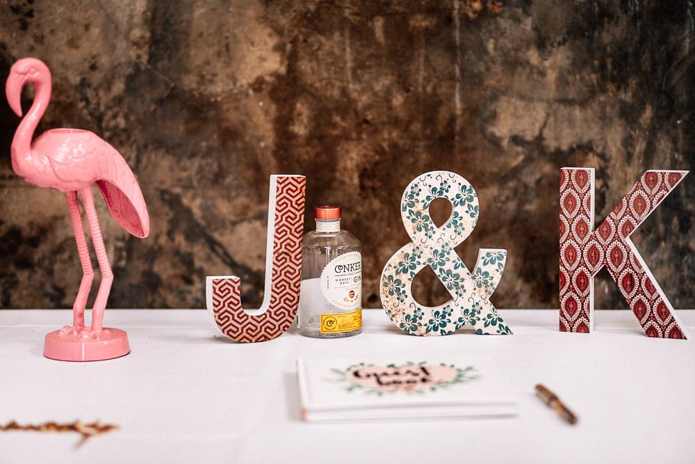Letters Initials Decor Park House Barn Wedding Fairclough Studios