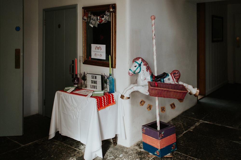 Carousel Card Box Basket Horse Fairground Pennard House Wedding Oxi Photography