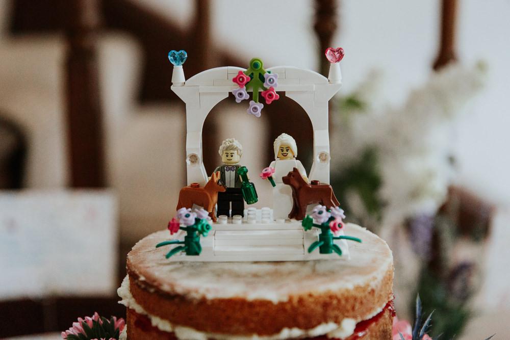 Lego Cake Topper Pennard House Wedding Oxi Photography