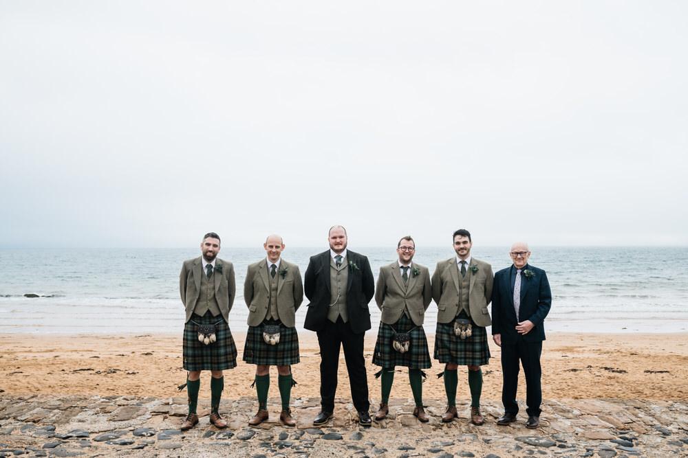 Groom Groomsmen Suits Kilts Rhynd Wedding Harper Scott Photo