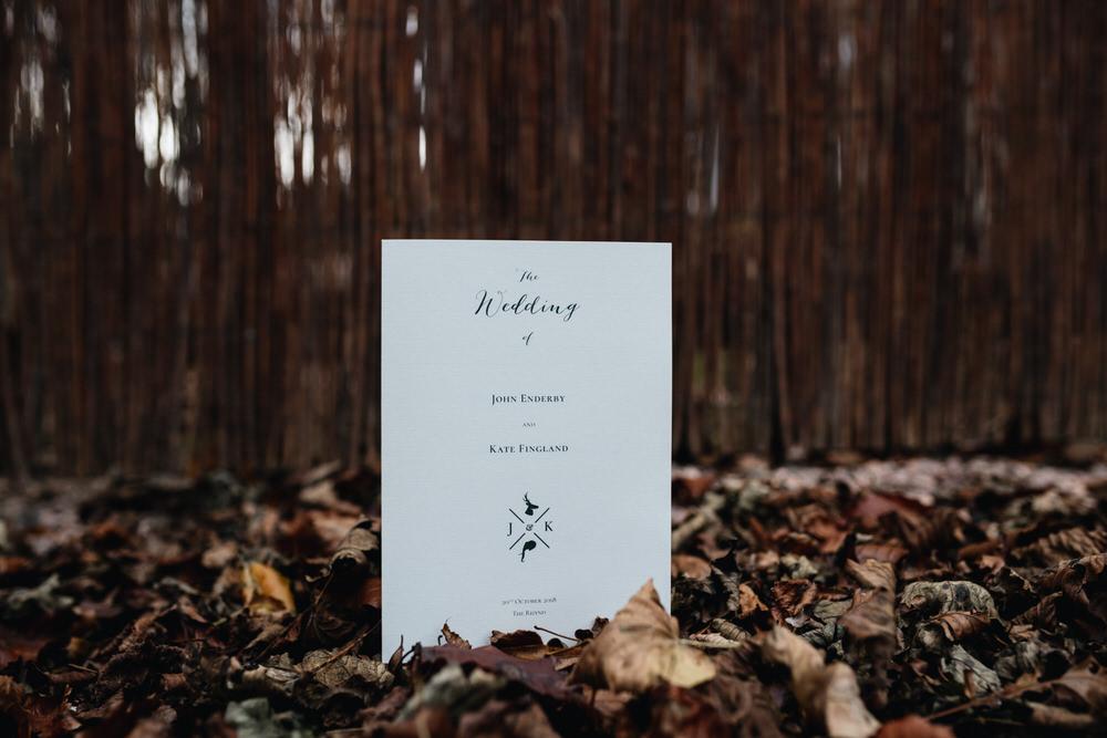 Stationery Day Booklet Autumn Rhynd Wedding Harper Scott Photo