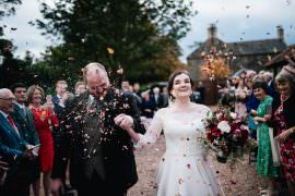 Petal Confetti Throw Rhynd Wedding Harper Scott Photo