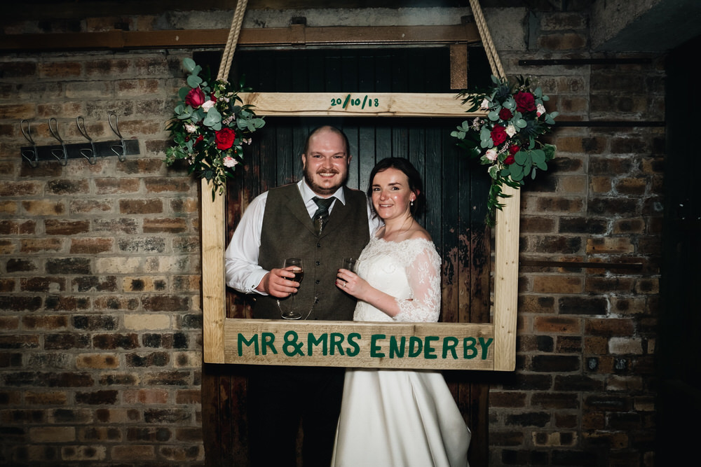 Photo Booth Wooden Frame Personalised Rhynd Wedding Harper Scott Photo