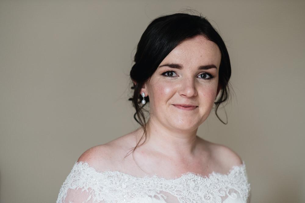 Bride Bridal Hair Make Up Rhynd Wedding Harper Scott Photo
