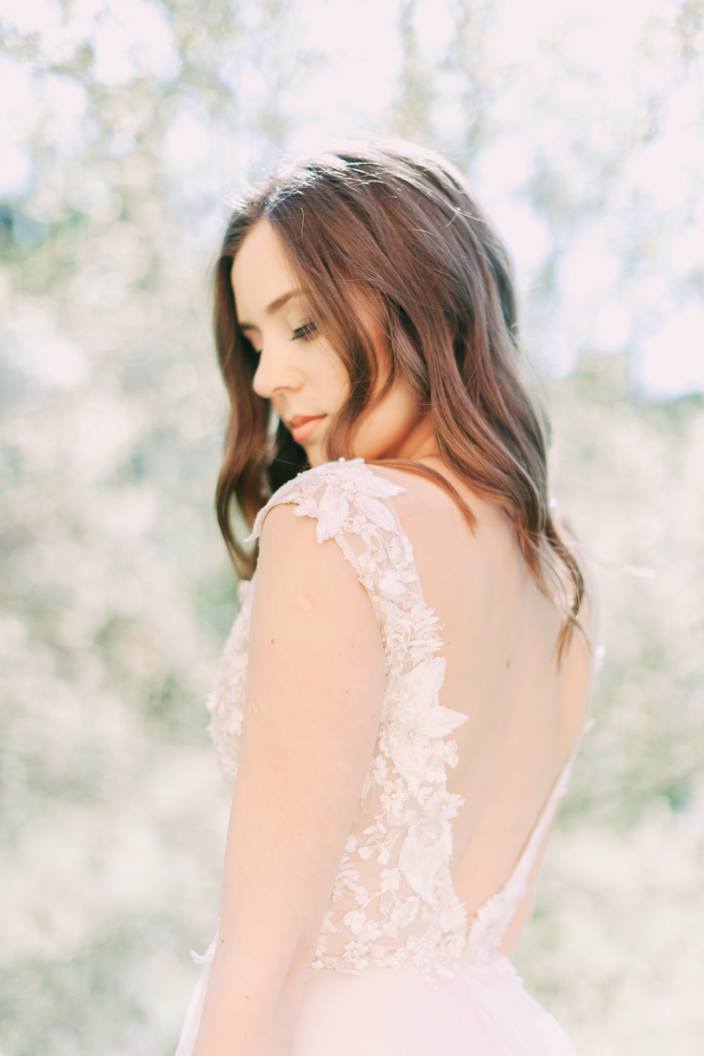 Bride Bridal Hair Loose Waves Style Romantic Tuscany Wedding Ideas Sonya Lalla Photography