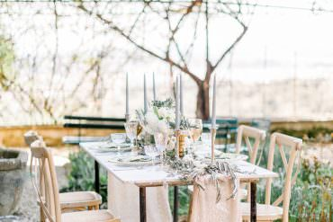Romantic Outdoor Tuscany Wedding Ideas in Pale Grey & Green