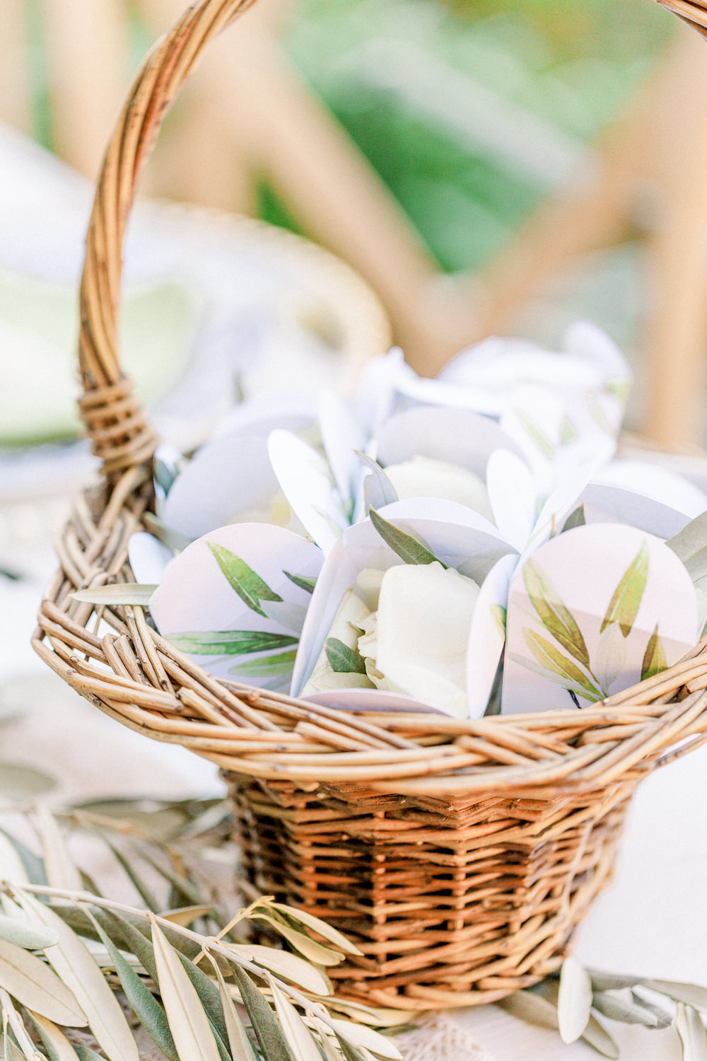 Confetti Cones Basket Romantic Tuscany Wedding Ideas Sonya Lalla Photography