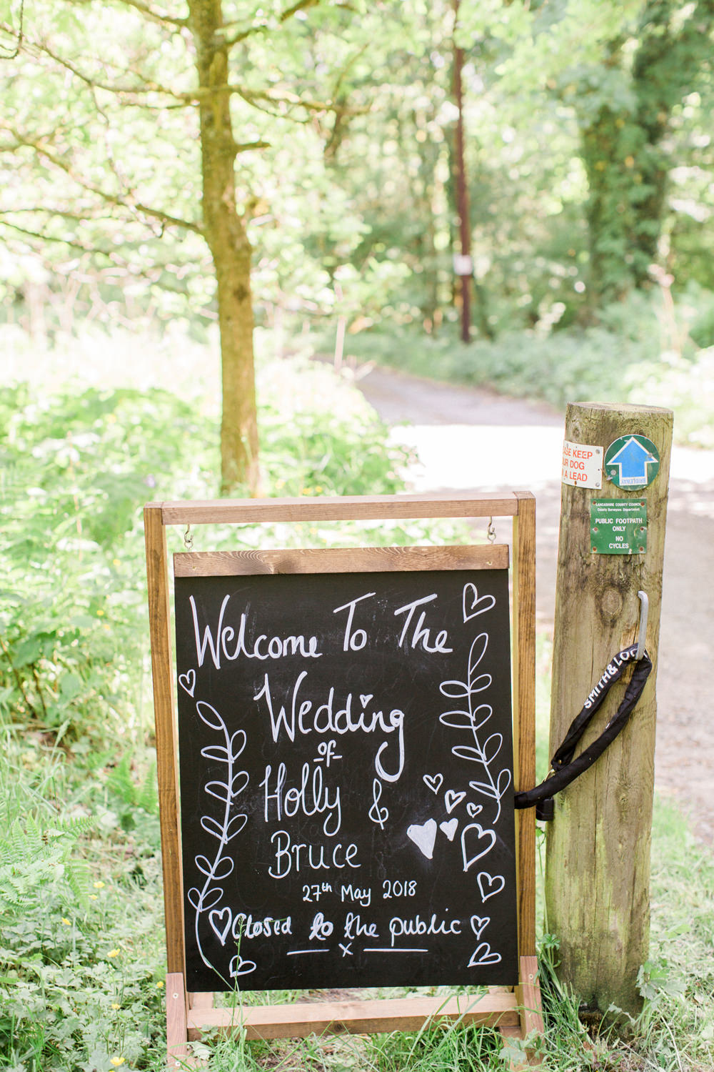 Welcome Sign Chalk Board Spring Cottage Rivington Wedding Emma B Photography
