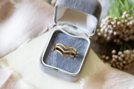 Wedding Engagement Ring Metals 18ct Yellow Gold Skinny Rings 18ct Yellow 9ct Rose Gold Wishbones