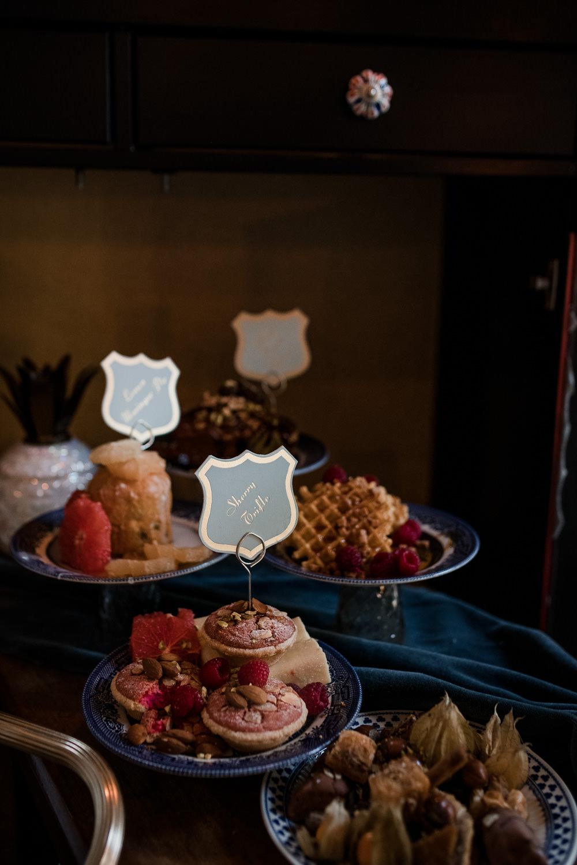 Dessert Table Treats Cakes Labels 1970 Retro Mid Century Wedding Ideas Laura Martha Photography